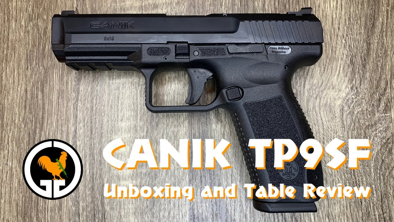 Canik TP9SF Unboxing and Table Review