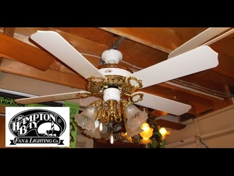 Hampton Bay St Claire Ceiling Fan Hd Remake Youtube