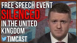 College Free Speech Event Canceled / Tommy Robinson Removed from Speaker's Corner by Police