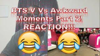Video BTS V Vs Awkward Moments Part 2! REACTION!!! download MP3, 3GP, MP4, WEBM, AVI, FLV Juli 2018