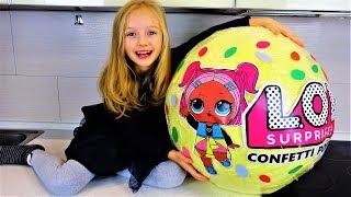 Гигантский Шар Сюрприз ЛОЛ Конфети Золотая Кукла Giant LOL Surprise Confetti  Pop Golden Doll
