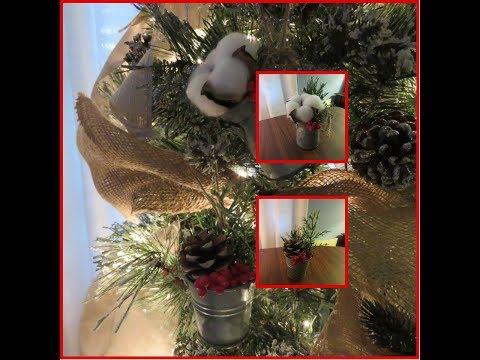 Tricia's Christmas: My Tree Part 2 Mini Metal Pail Ornaments