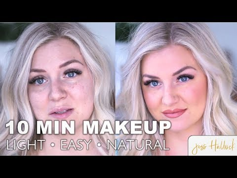 My Lightweight Everyday Makeup (Face, Brows & Lips) || How To DIY Tutorial || Jess Hallock