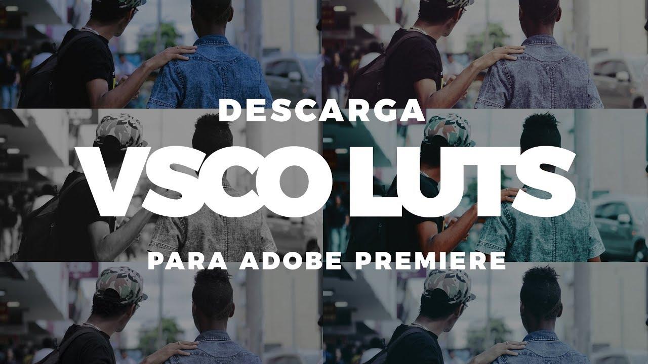 Descarga VSCO luts vol. 1 para Adobe Premiere