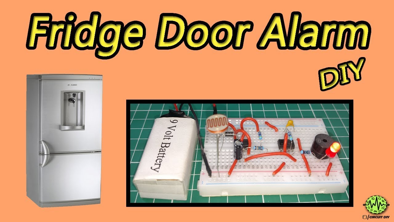 Fridge Door Alarm Using 555 Timer Ic Easy Diy Electronic As Monostable Multivibrator Todays Circuits Engineering Project Homemade Circuit