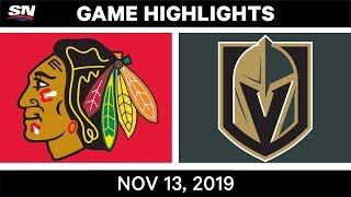 NHL Highlights   CHI vs. VGK - Nov. 13, 2019