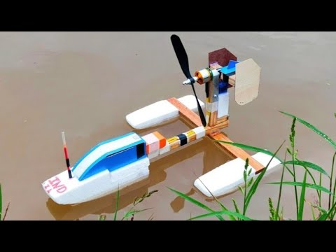 How to make a RC air boat , homemade RC boat