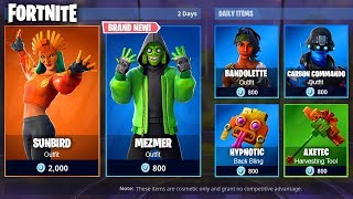 *NEW* SUNBIRD & MEZMER! FORTNITE ITEM SHOP MARCH 8th! New Fortnite Skins! (8th March)