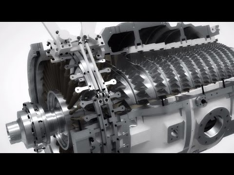 Siemens SGT-750 gas turbine flythrough