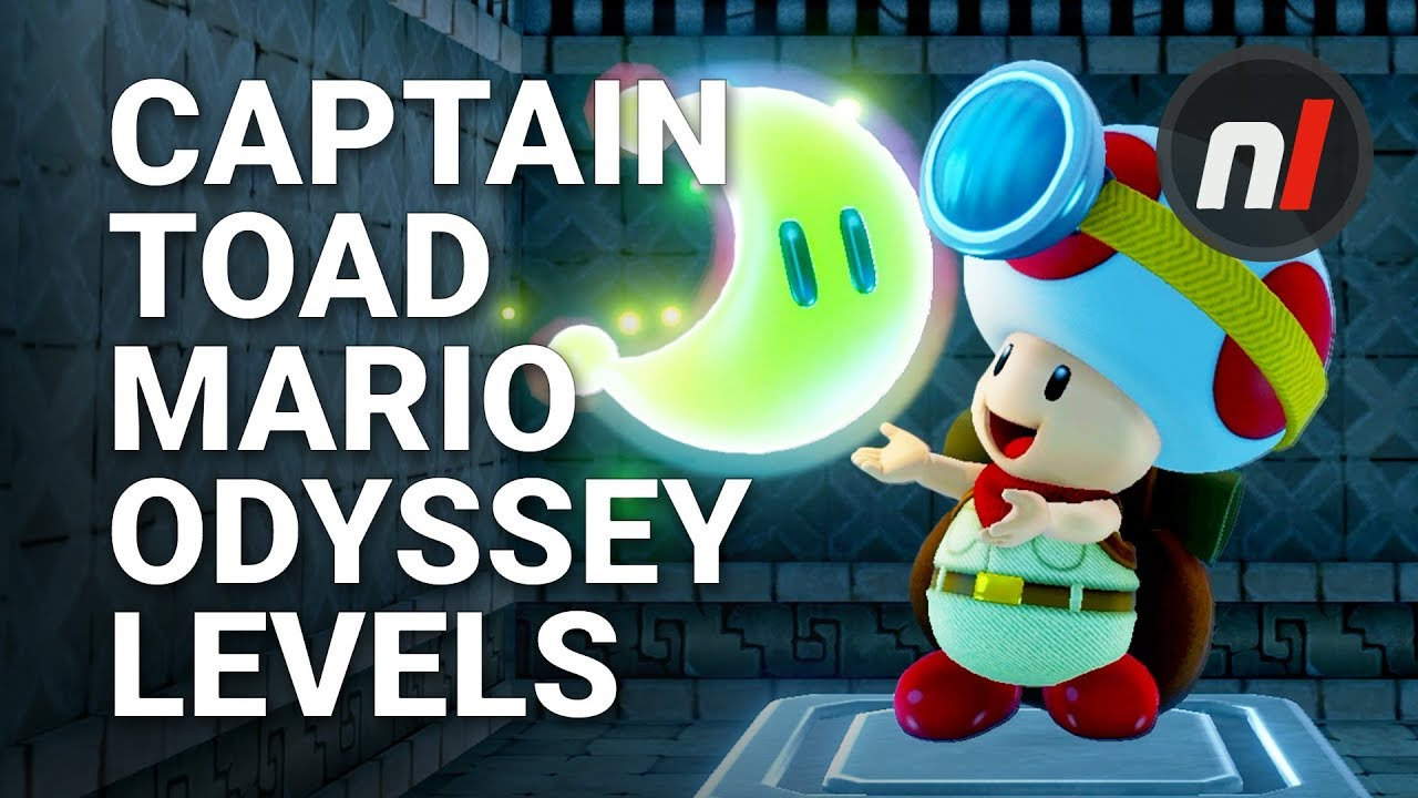 Super Mario Odyssey Levels In Captain Toad Treasure Tracker On Nintendo Switch
