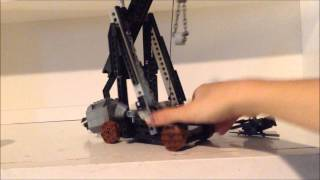 Trebuchet (catapult) Made 100% From Lego