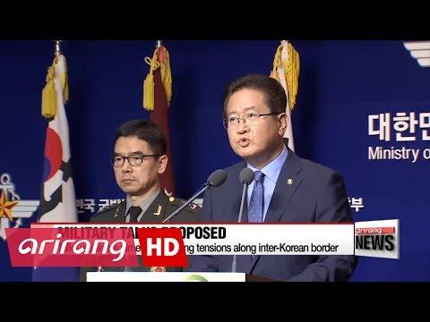 South Korea proposes military talks to North Korea