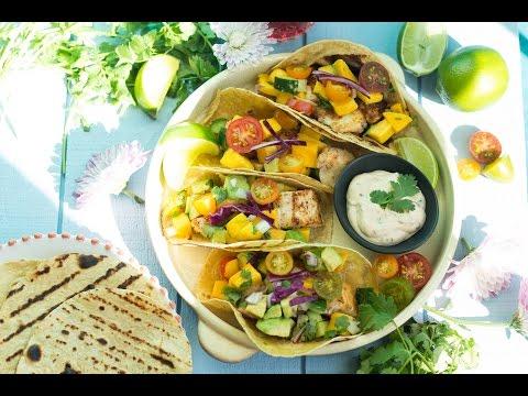Cajun Fish Tacos With Avocado Mango Salsa