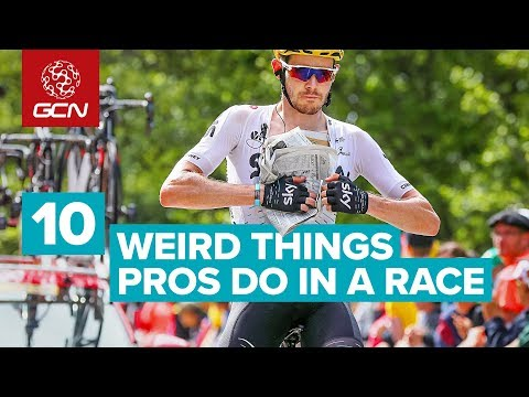 10 Weird Things That Pro Cyclists Do In A Race