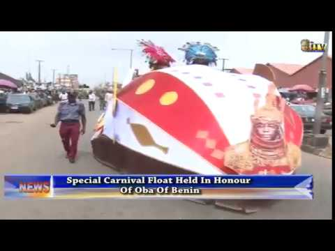 Special carnival float held in honour of Benin Monarch