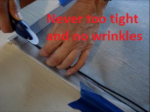 How To Replace A Window Screen Easy