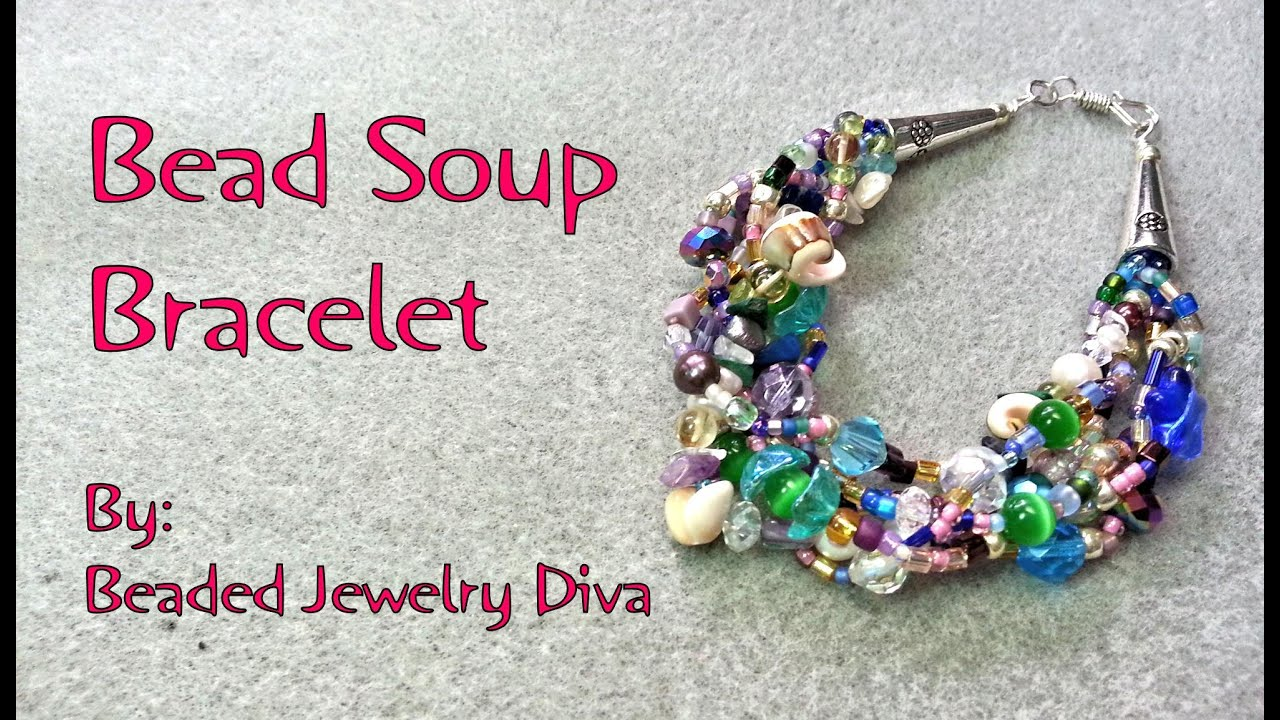 Bead Soup Bracelet - Beaded Bracelet Tutorial - YouTube