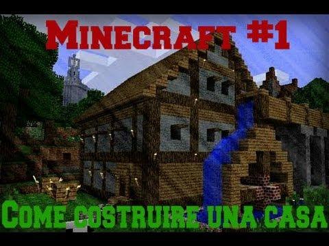 Tutorial minecraft 1 come costruire una casa bellissima for Come costruire una casa in una montagna