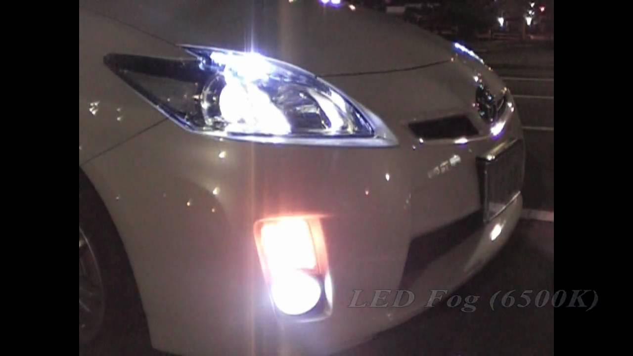 3rd Prius Hid Low Beam 215 Led Fog 215 Led Turn Light Youtube