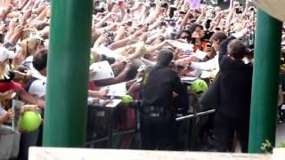 Rafa signing autographs after Wimbledon Final 2010