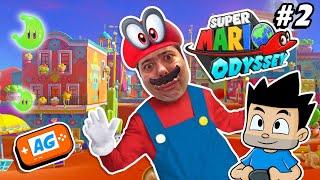 A por la Energilunas de Super Mario Odyssey Reino de las ARENAS en Nintendo Switch