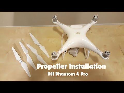 How to Install Propellers on New DJI Phantom 4 Pro