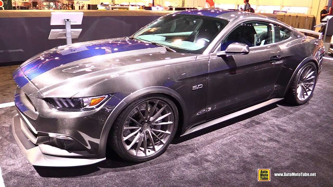 2017 ford mustang fastback 825hp carbon fiber body kit by speedkore exterior walkaround 2016 sema youtube