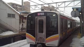 20170210 E129系 村上行 発車シーン