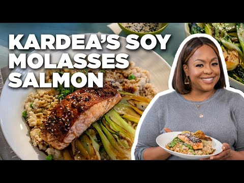 Kardea Brown Makes Soy Molasses Salmon | Food Network