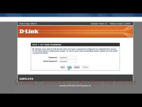 D-link Router Wireless and LAN Network Configuration