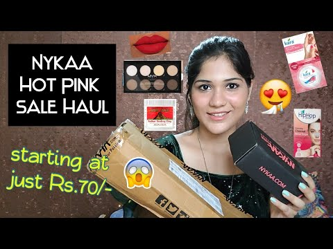 nykaa-hot-pink-sale-haul-2020😍--skin-care-and-makeup-must-haves---reviews---everything-under-1500/-