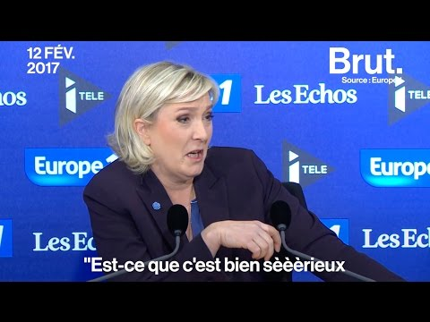 Marine Le Pen Actors Studio