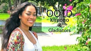 OOTD | Boho Kimono & Gladiators | Jamielle Laura Thumbnail