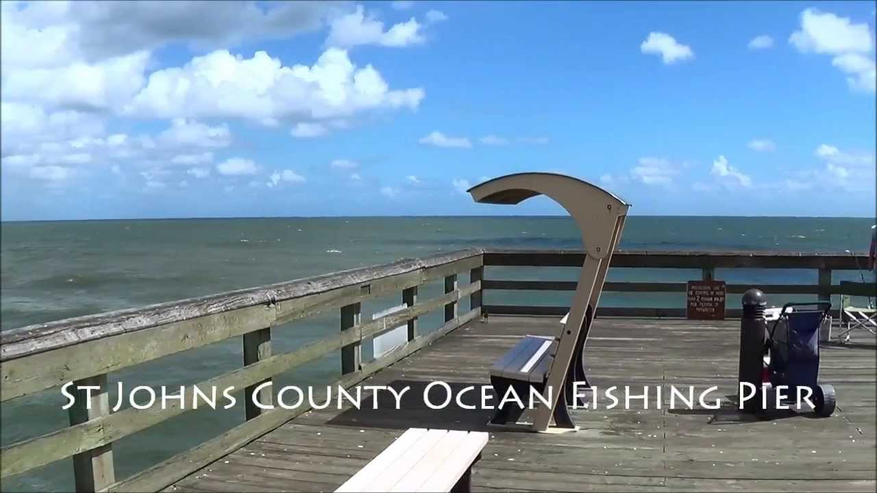 St johns county fishing pier youtube for St augustine fishing pier