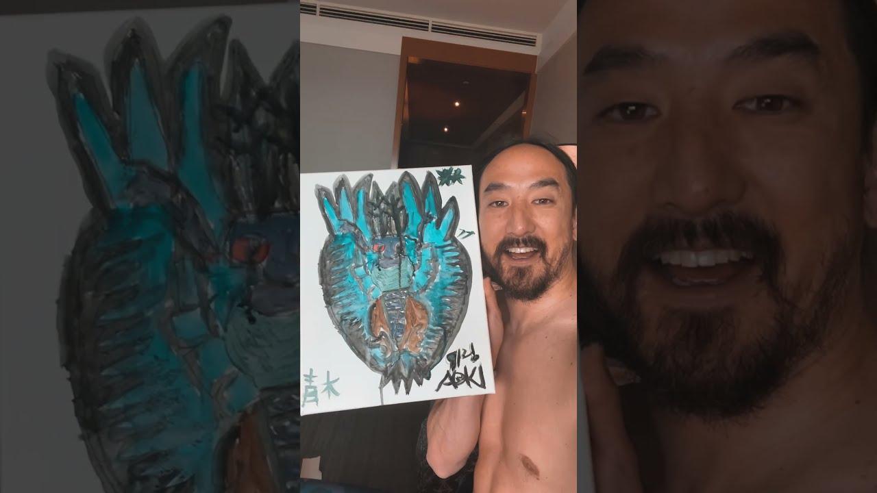 Aoki's 1st Watercolor   The Mothman