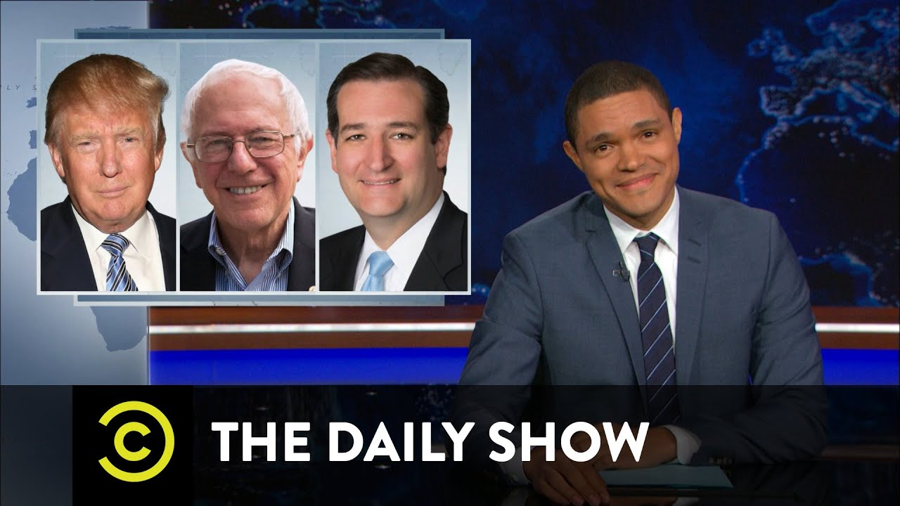 New 'Daily Show' host Trevor Noah takes on presidential candidates. (Credit: Comedy Central)