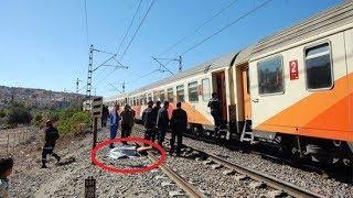 سائق قطار مغربي إعترضه شيء زعزعه على السكة ولما إستكشف الأمر صعق من هول ما دهسه !