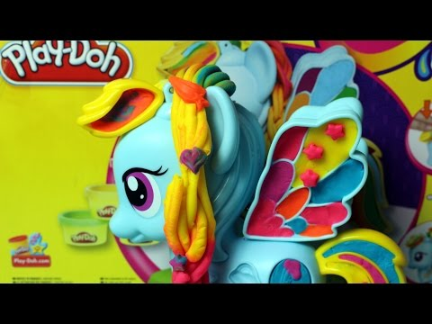 Play-Doh ♥ My Little Pony ♥ Rainbow Dash Style Salon Playset