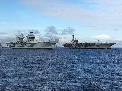 HMS Queen Elizabeth R08 & USS George HW Bush CVN 77