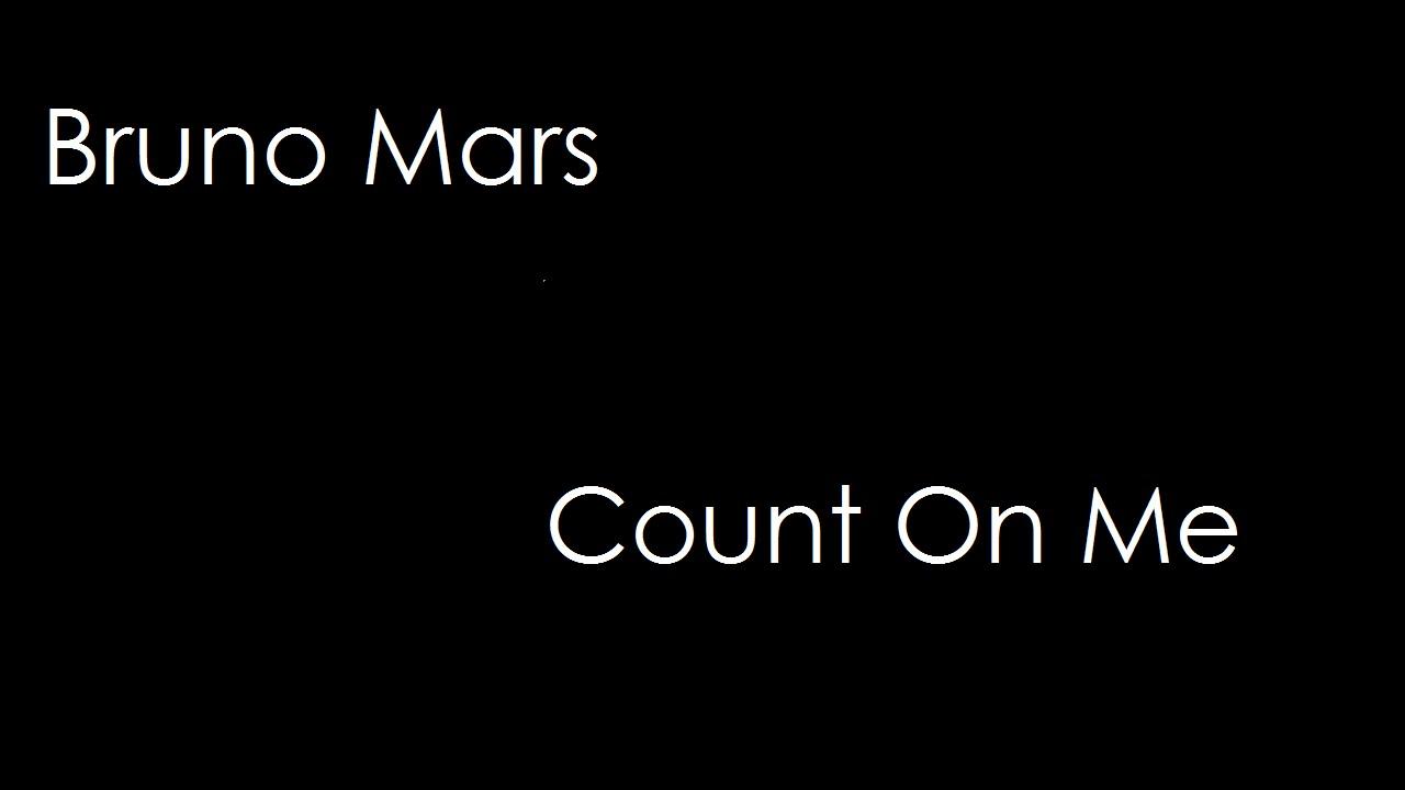 Bruno mars count on