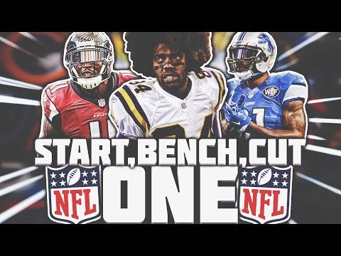START ONE, BENCH ONE, CUT ONE NFL CHALLENGE!
