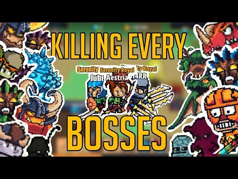 Killing Every Bosses ! Pt.1| Pixel Knights Online #2