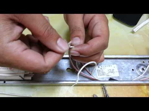 教你如何從傳統T8燈管安裝為LED T8燈管   Doovi