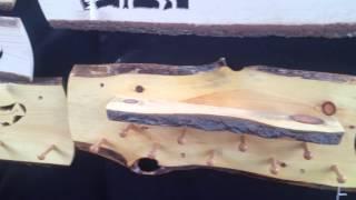 Wooden Coat / Hat Rack Display At Fryeburg Fair