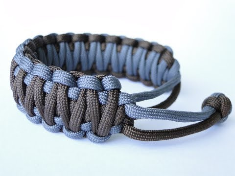 How to Make a Mad Max Style 2 Color King Cobra Paracord Survival Bracelet-Without Joining Cord