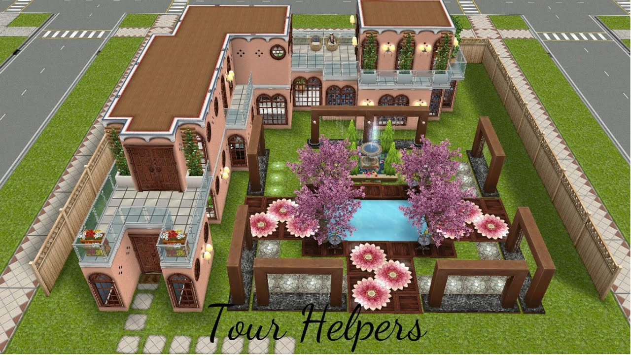 The sims freeplay tour helpers casa de f rias youtube for Casa de diseno the sims freeplay