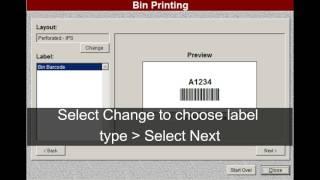 Bin Printing - Shelf labels or Bin Tags