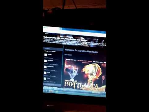 Dj king flow playing scientific song on Carolina hott radio