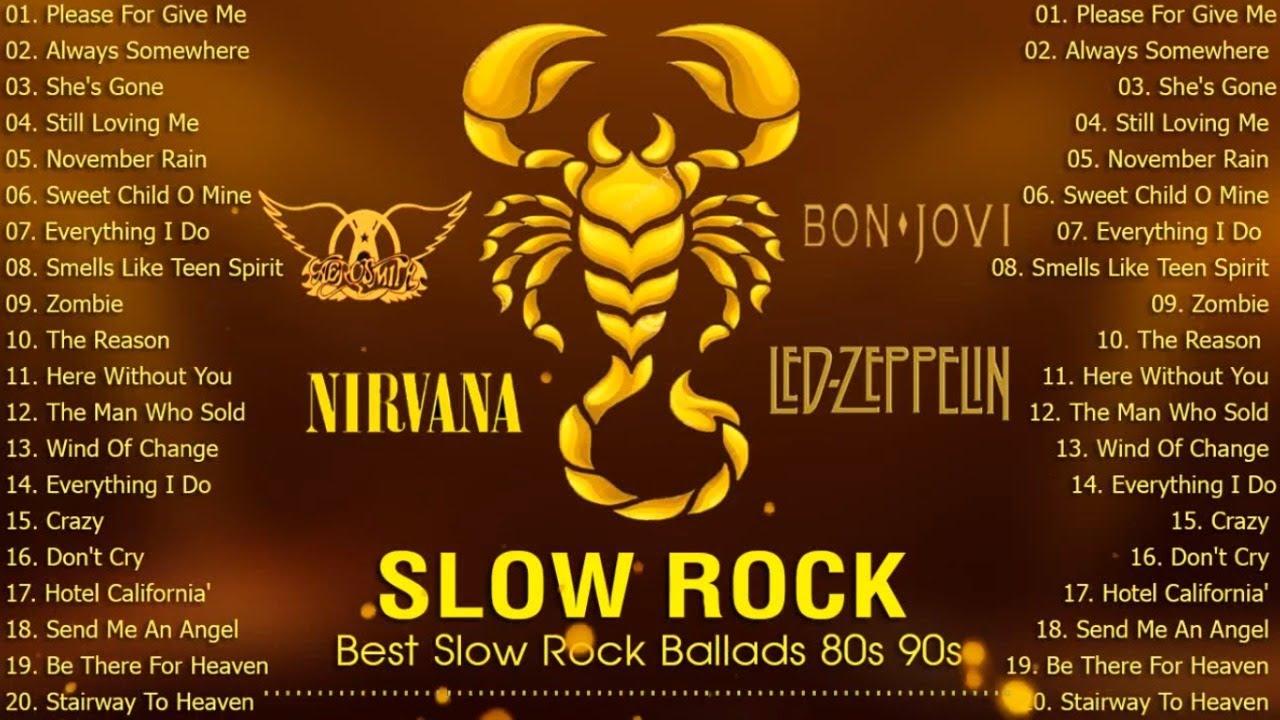 Scorpions, Bon Jovi,Aerosmith,U2,Nirvana-Slow Rock 80s 90s-Now That's What I Call Power Ballads