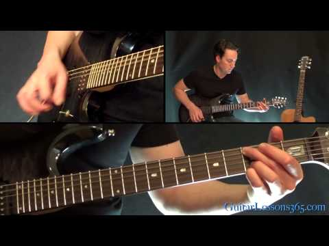You Shook Me All Night Long Guitar Lesson - AC/DC - All Riffs